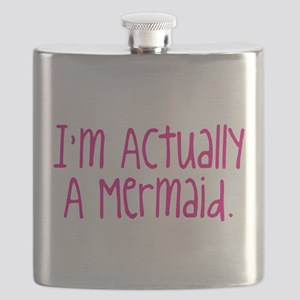 Im Actually A Mermaid Flask