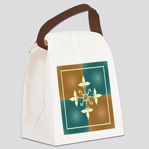 TEAL & TERRA TILE Canvas Lunch Bag
