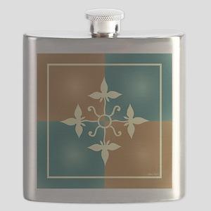 TEAL & TERRA TILE Flask