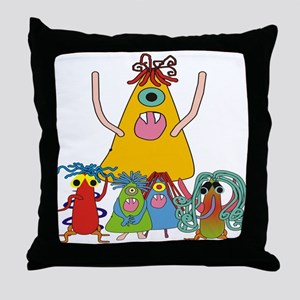 Monsters for Kids Throw Pillow