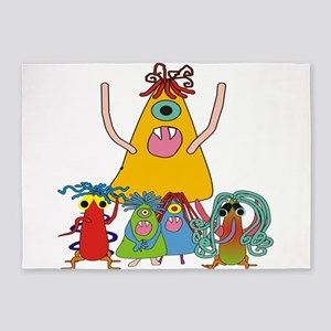 Monsters for Kids 5'x7'Area Rug