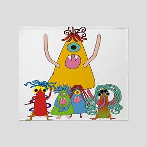 Monsters for Kids Throw Blanket