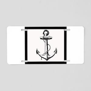 Ship Anchor Aluminum License Plate