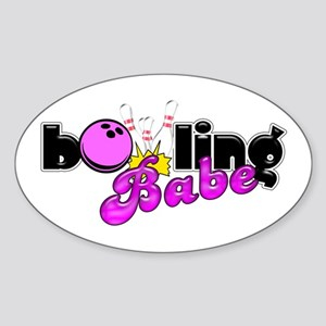 Bowling Babe Sticker (Oval)