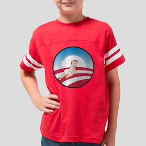 Obama Logo Baby No Text Lt Sk Youth Football Shirt