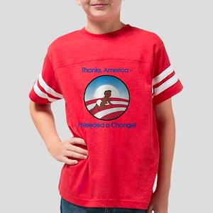 Thanks America Obama Logo Bab Youth Football Shirt