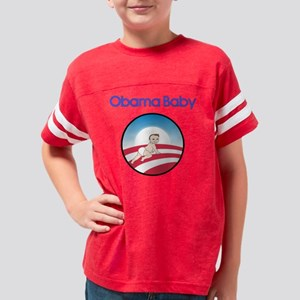 Obama Baby Logo Lt Skin Youth Football Shirt
