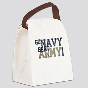 go NAVY beat ARMY Canvas Lunch Bag