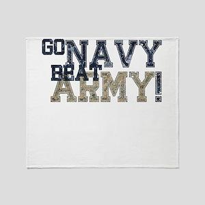 go NAVY beat ARMY Throw Blanket