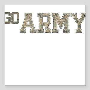 "go ARMY Square Car Magnet 3"" x 3"""