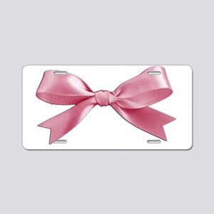 Pink Bow Aluminum License Plate