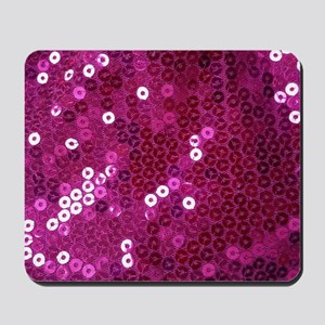 Pink Sequins Print Mousepad