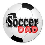 Soccer dad Round Car Magnets