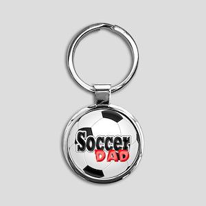 Soccer Dad Round Keychain