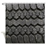 Tire Tracks Shower Curtain