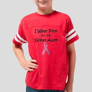 PinkForMyGreatAuntBoyYouth Youth Football Shirt