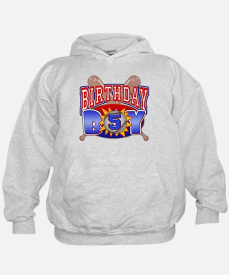 Baseball 5th Birthday Hoodie