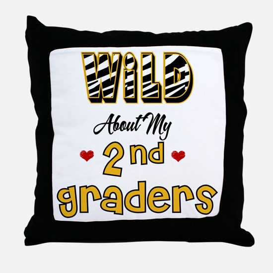 Wild About my 2nd Graders Throw Pillow