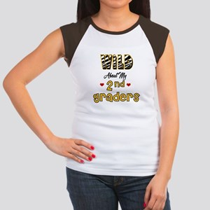 Wild About my 2nd Graders Women's Cap Sleeve T-Shi
