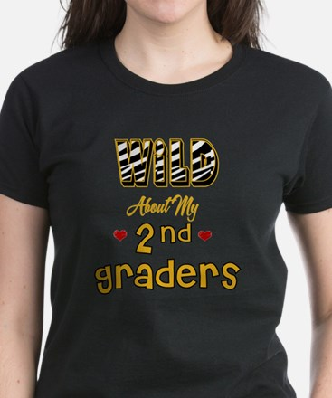 Wild About my 2nd Graders Women's Dark T-Shirt