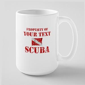 Personalized Scuba Large Mug