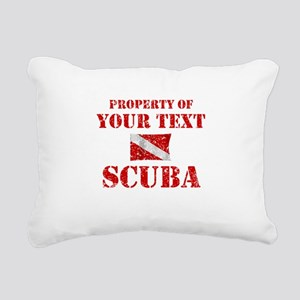 Personalized Scuba Rectangular Canvas Pillow