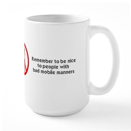 No Phones Large Mug
