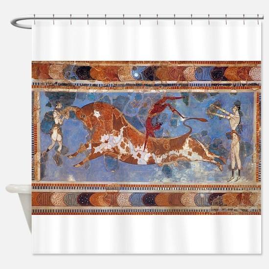 Unique Greek Shower Curtain