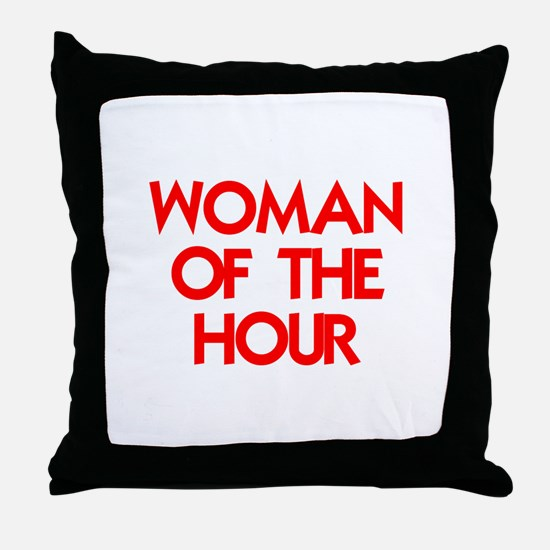 WOMAN OF THE HOUR.psd Throw Pillow