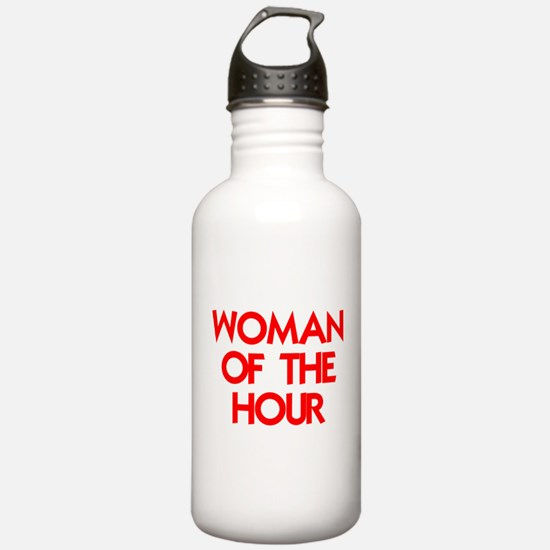 WOMAN OF THE HOUR.psd Water Bottle
