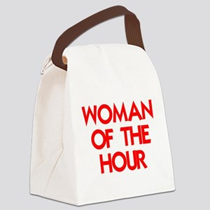 WOMAN OF THE HOUR Canvas Lunch Bag