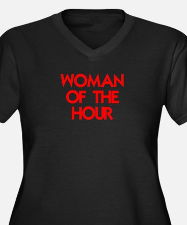 WOMAN OF THE HOUR.psd Plus Size T-Shirt