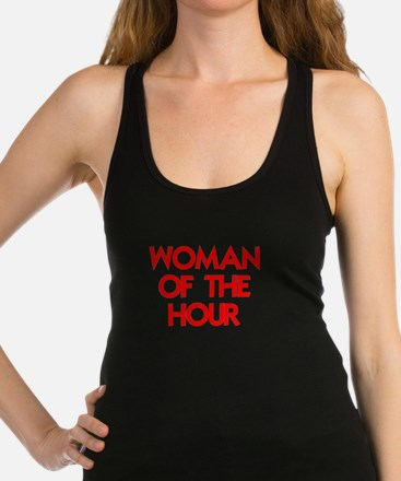 WOMAN OF THE HOUR.psd Racerback Tank Top