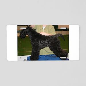 kerry blue terrier full third Aluminum License Pla