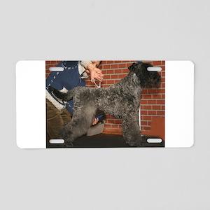 kerry blue terrier full fourth Aluminum License Pl