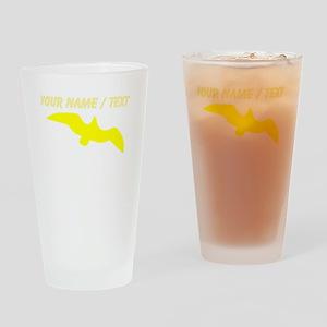 Custom Yellow Seagull Silhouette Drinking Glass