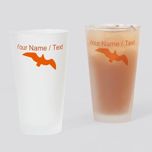 Custom Orange Seagull Silhouette Drinking Glass