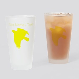 Custom Yellow Falcon Silhouette Drinking Glass