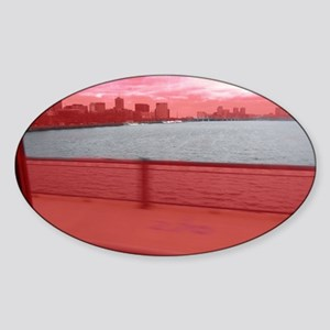 Boston-Charles River Sticker (Oval)