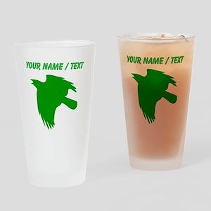 Custom Green Falcon Silhouette Drinking Glass