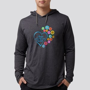 Mimi Special Heart Mens Hooded Shirt
