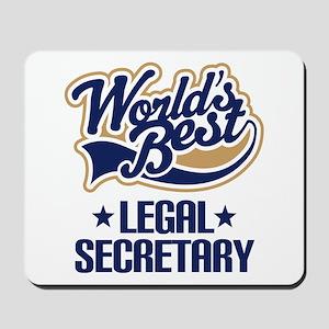 Legal Secretary (Worlds Best) Mousepad