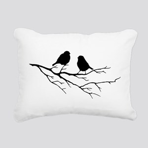 Two Little white Sparrow Birds Black silhouette Re