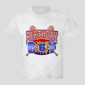 Baseball 6th Birthday Kids Light T-Shirt