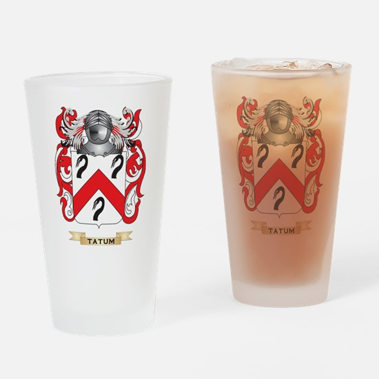 Tatum Family Crest (Coat of Arms) Drinking Glass