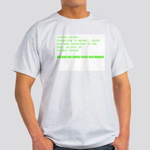 One Does Not Simply Telnet Into Mordor T-Shirt