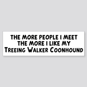 Treeing Walker Coonhound: peo Bumper Sticker