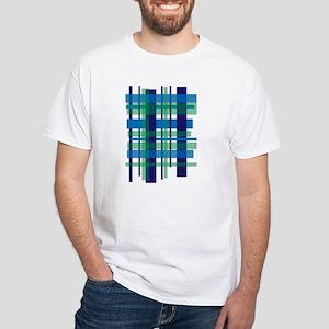 modern tartan blue T-Shirt