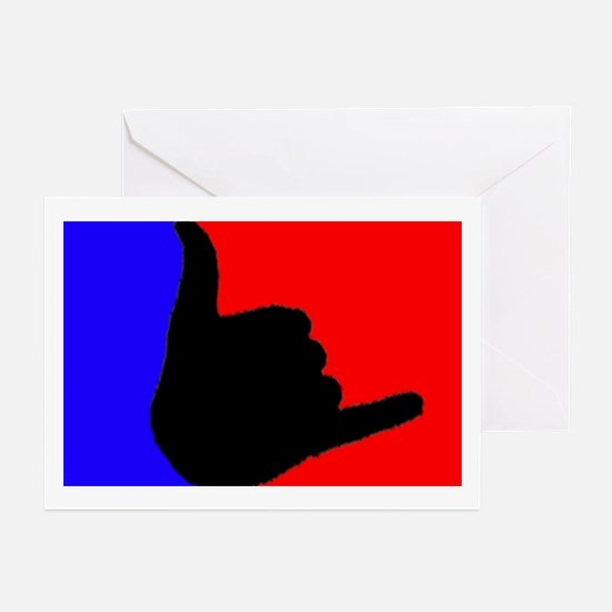 Blue/Red Shaka Greeting Cards (Pk of 10)