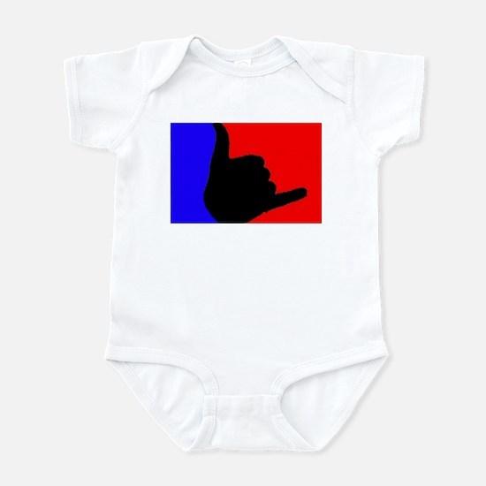 Blue/Red Shaka Infant Bodysuit